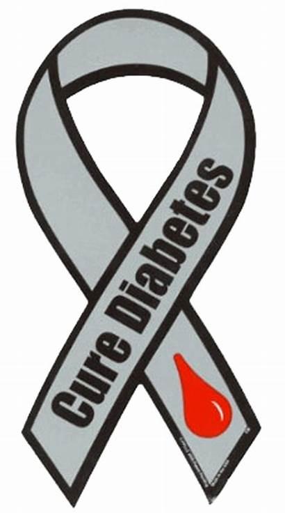 Diabetes Ribbon Awareness Cure Type Month Diabetic