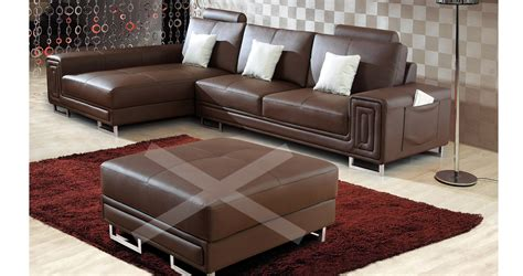 canape deco deco in canape cuir d angle marron tetieres relax