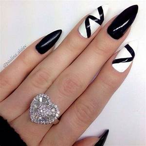 87 of the Most Stunning Black and White Nail Art Designs ...