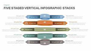 Five Staged Vertical Infographic Stacks Powerpoint And