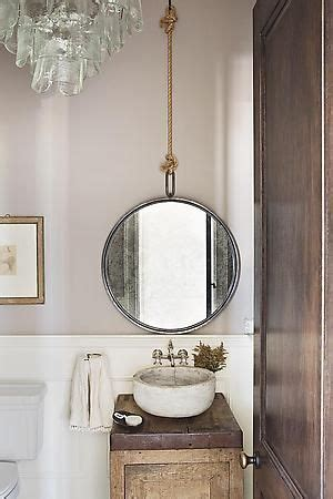 Hanging Mirror In Bathroom by Perfectly Polished Rustic The Rope Hanging The