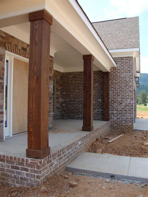 brick l post designs front porch columns designs the front porch cedar