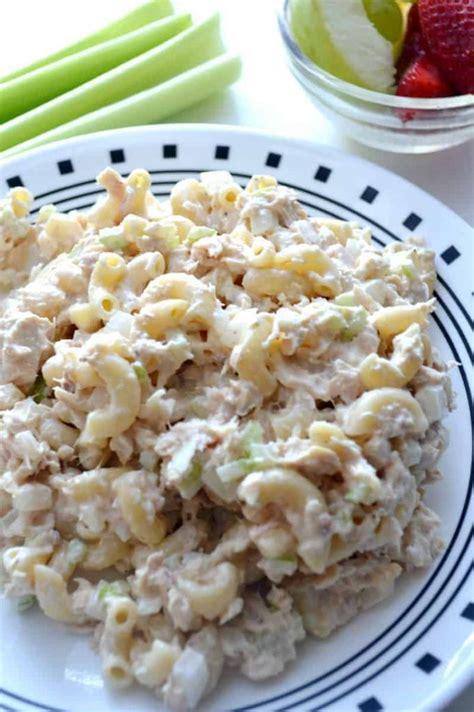classic tuna pasta salad easy   recipes  stylish