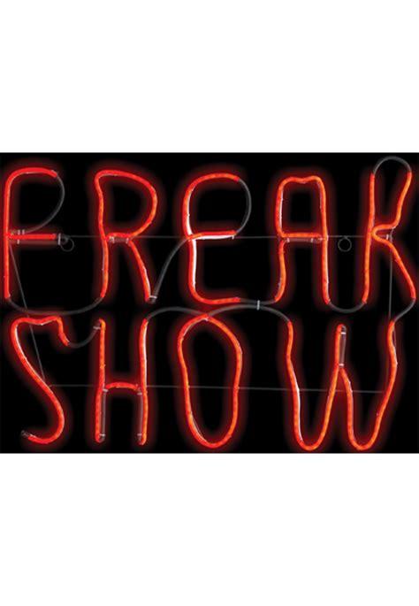 freak show sign decorations props