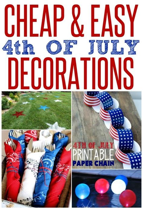 cheap and easy patriotic decorations infarrantly creative