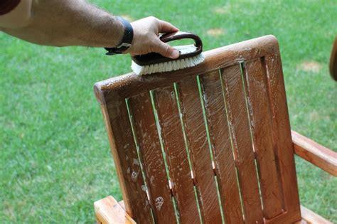 clean teak outdoor furniture  basic woodworking