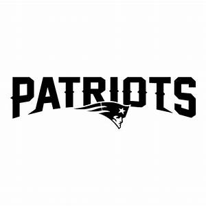 Black CAD CUT New England Patriots 2013-Pres Wordmark Logo ...