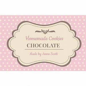 brown cookie label With cookies label template