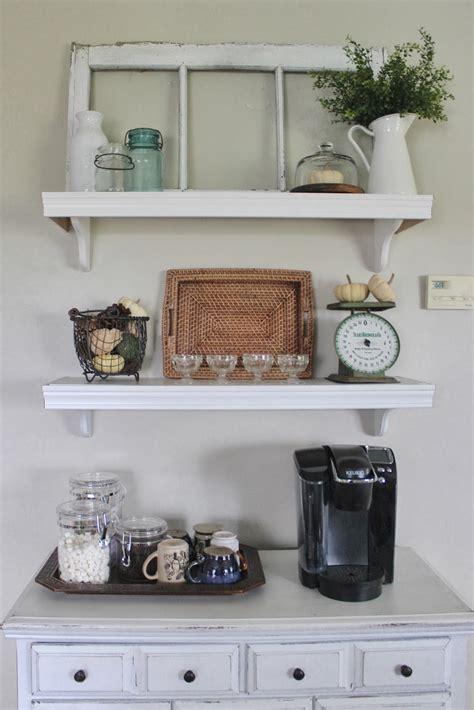 red barn door kitchen wall shelves