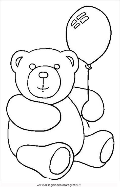 disegno orso animali da colorare