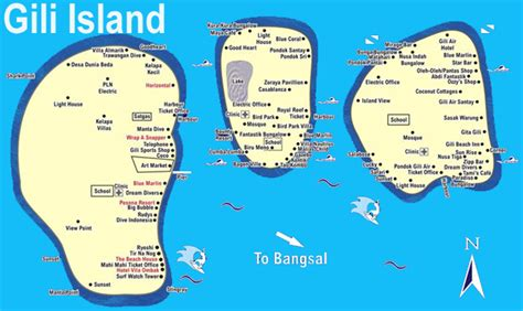 gili islands indonesia map gili islands maps