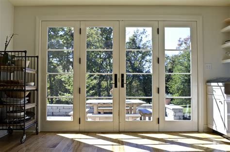 kitchen french doors closed traditional kitchen