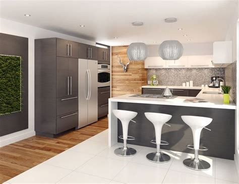 Thermofoil Cabinet Doors Edmonton by Transitional Kitchen From Fabritec Expressive Grey Thalia