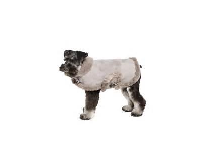 Coat Dog Shearling Genuine Grey Coats Gray