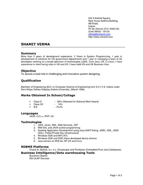 Most Recent Resume Format 2016 by Current Resume Format