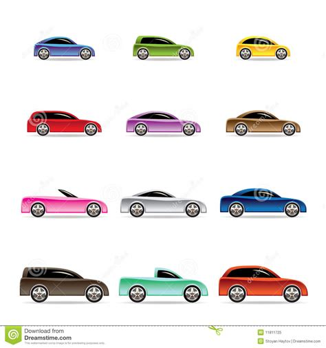 Vector Set Of Different Colorful Cars Isolated Vector
