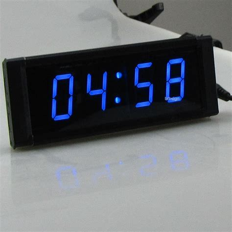 blue led led digital clock 1 mm ss led countdown