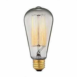Vintage Light Bulbs Home Depot Titan Lighting 60 Watt Incandescent A19 Ogden Vintage