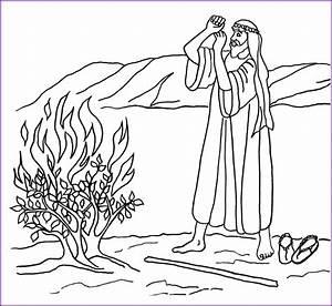 Print Version: Moses and Burning Bush Coloring Page ...