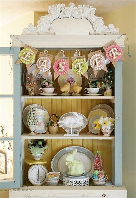 China Hutch Ideas by Easter Decorating Ideas China Cabinet