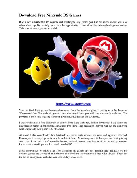 Download Free Nintendo Ds Games