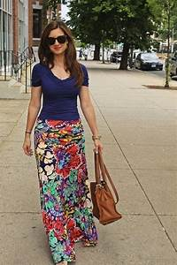 Floral Maxi Skirt Outfits - Dress Ala