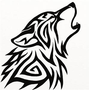 The gallery for --> Tribal Wolf Head