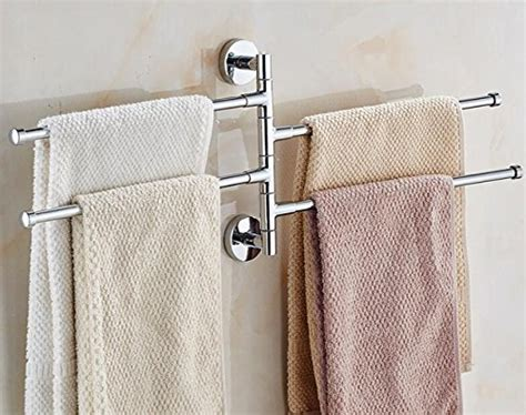 swivel towel rack bekith 16 inch wall mounted stainless steel swivel bars