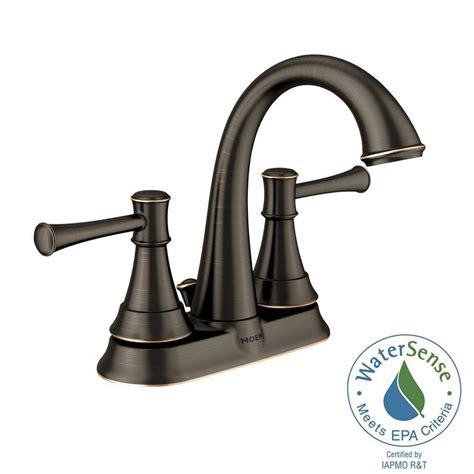 moen ashville 4 in centerset 2 handle bathroom faucet