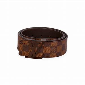 Louis Vuitton Damier Ebene Lv Initials Belt