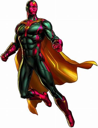 Vision Marvel Avengers Alliance Comics Transparent Heroes