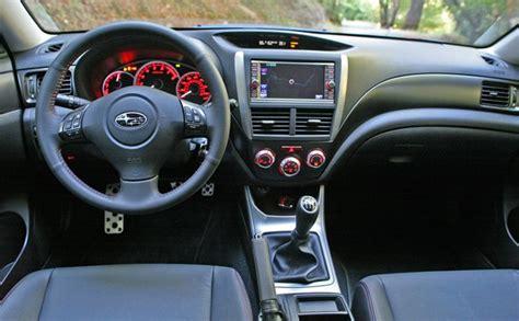 subaru sti 2011 interior review 2011 subaru impreza wrx autoblog
