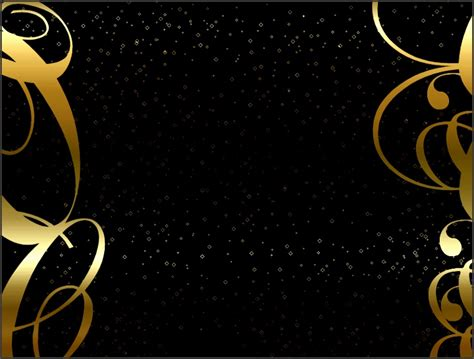 8 Powerpoint Templates Black and Gold SampleTemplatess