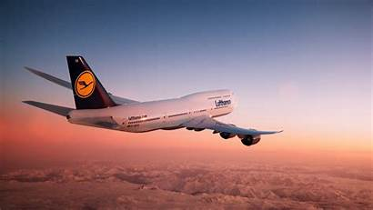 747 Boeing Desktop Airplane Lufthansa Plane Flying