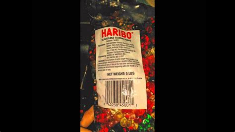 Haribo Sugarless Gummy Bears........**warning For Bathroom