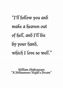 """William Shakespeare, from """"A Midsummer Night's Dream ..."""