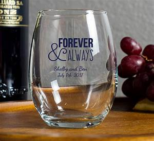 personalized stemless wine glasses With wedding favors wine glasses