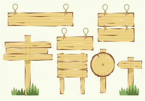 wooden blank banner sign vector   vectors