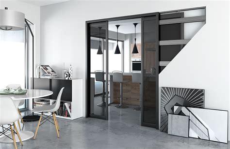 plan de travail separation cuisine sejour separation cuisine sejour portes avec vue sur le