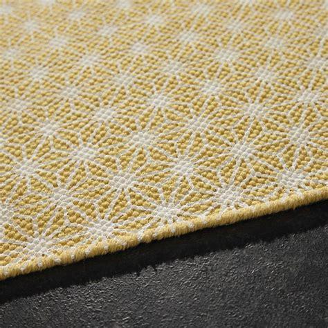 tapis en coton jaune moutarde    cm tapis en