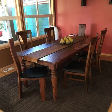 dining table with six chairs furniture in renton wa
