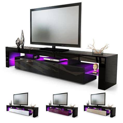 tv tisch schwarz tv lowboard board schrank tisch m 246 bel lima v2 in schwarz hochglanz naturt 246 ne ebay