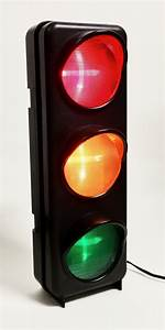 Night Light Wall Clock Traffic Light Decorations For The Garage Kitchen Or