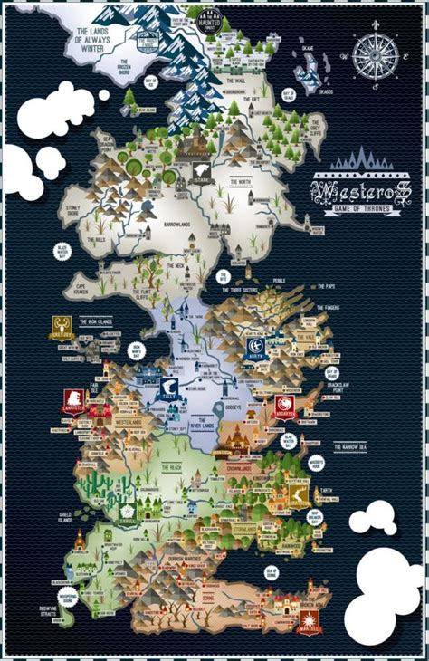 westeros map ideas  pinterest game  thrones