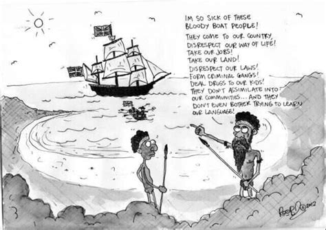 Boat People Meme - cartoon boat people australia