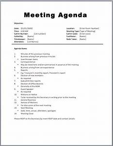 20 meeting agenda templates word excel pdf formats With agendas for meetings templates free