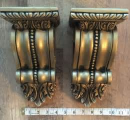 Antique Curtain Holdbacks by 2 Xl Window Drapery Wall Sconce Corbel Curtain Rod Scarf