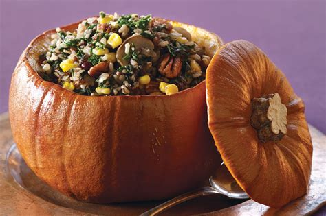 Wild Rice Stuffed Pumpkin Recipe Vegetarian Times