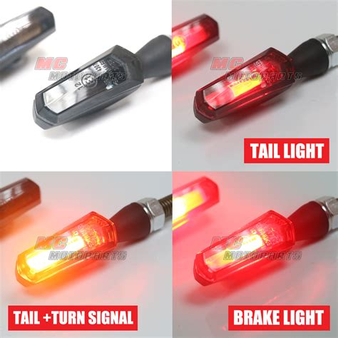fit motorcycle aluminum smoke wizard cob led turn signals