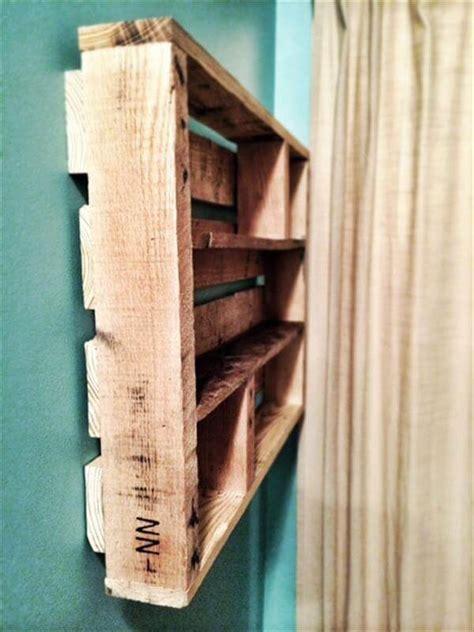 diy pallet wood spice rack  pallets